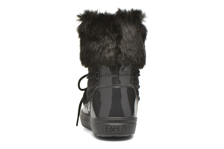 Bottines et boots Crocs Lodgepoint Lace Boot W Noir vue droite