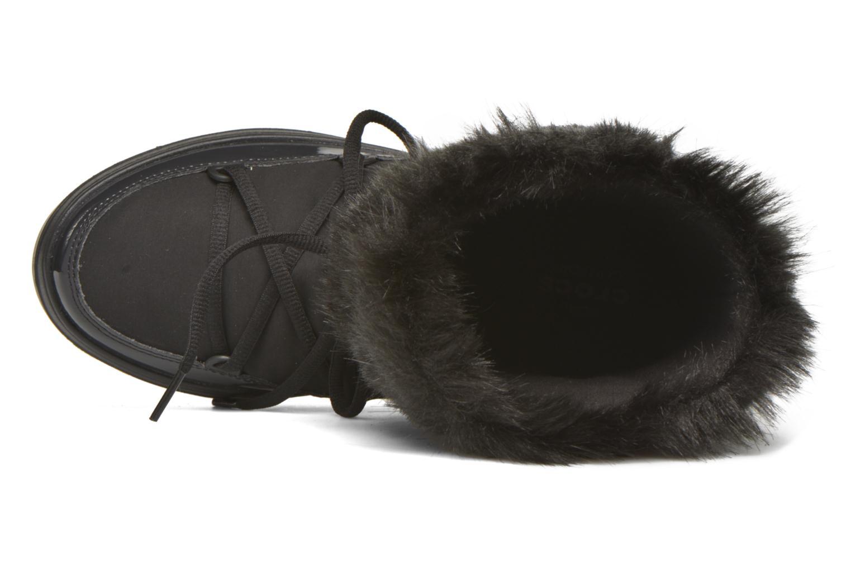 Bottines et boots Crocs Lodgepoint Lace Boot W Noir vue gauche