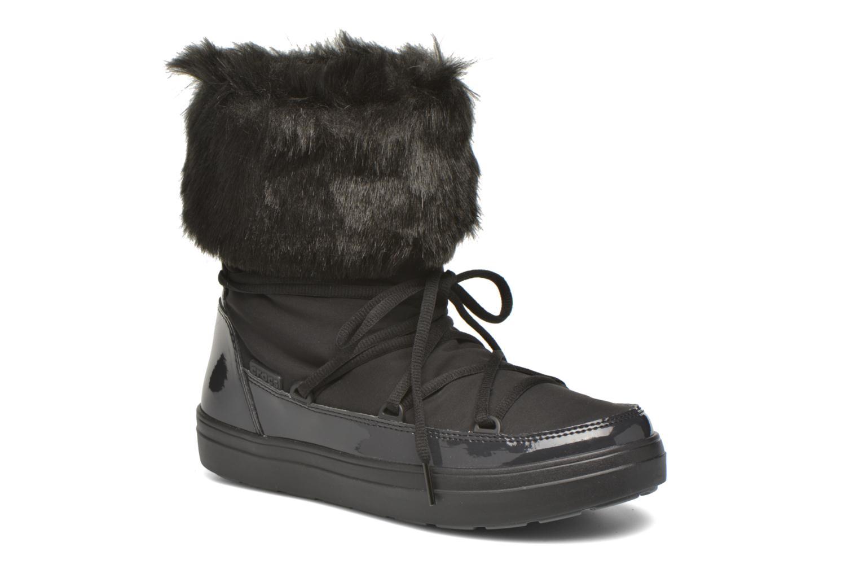 Botines  Crocs Lodgepoint Lace Boot W Negro vista de detalle / par
