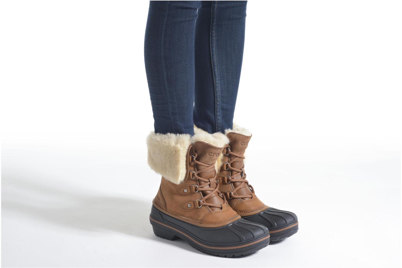 Bottines et boots Crocs AllCast II Luxe Boot W Marron vue bas / vue portée sac