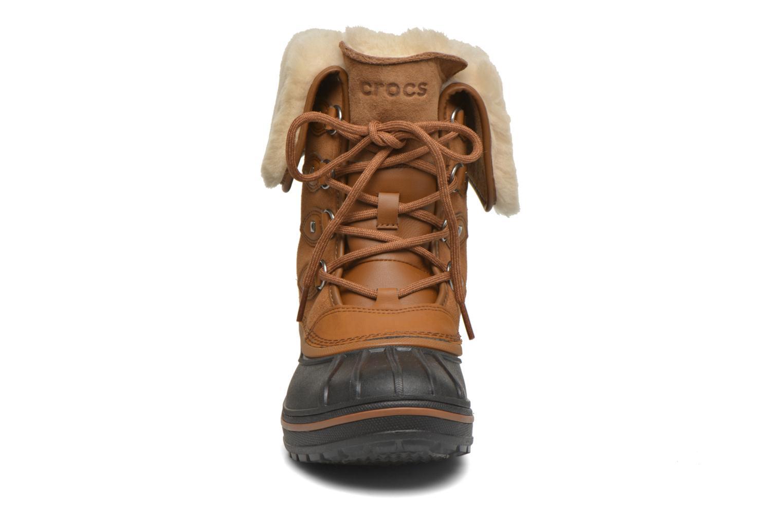 Stiefeletten & Boots Crocs AllCast II Luxe Boot W braun schuhe getragen