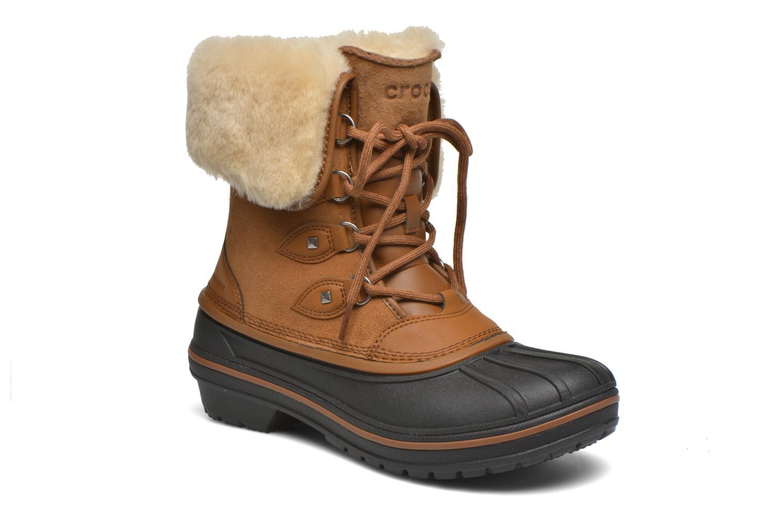 Bottines et boots Crocs AllCast II Luxe Boot W Marron vue détail/paire