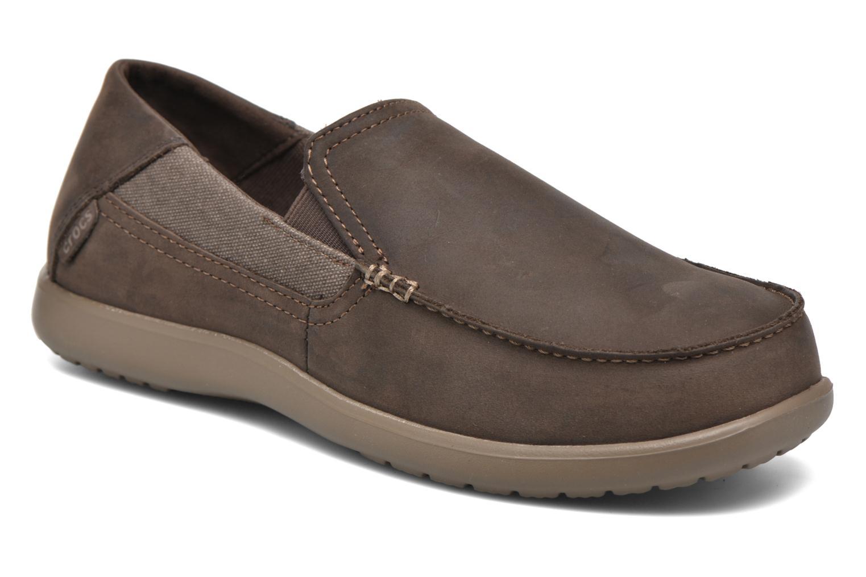 Crocs Santa Cruz 2 Luxe Leather M (Marron) - Mocassins chez Sarenza (274542)