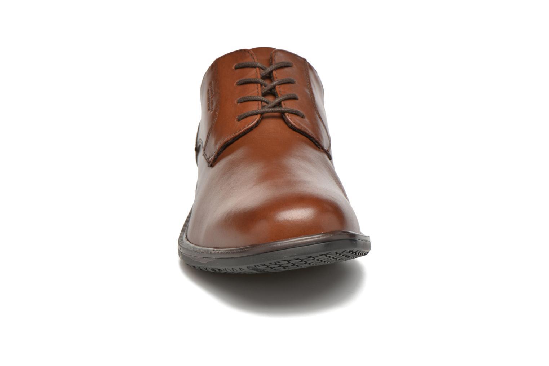 Schnürschuhe Rockport Esntial Dtl II Plain Toe braun schuhe getragen