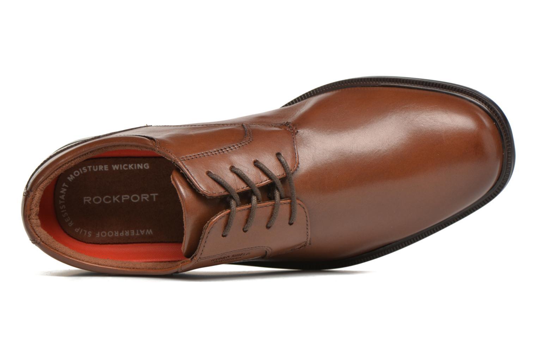 Zapatos con cordones Rockport Esntial Dtl II Plain Toe Marrón vista lateral izquierda