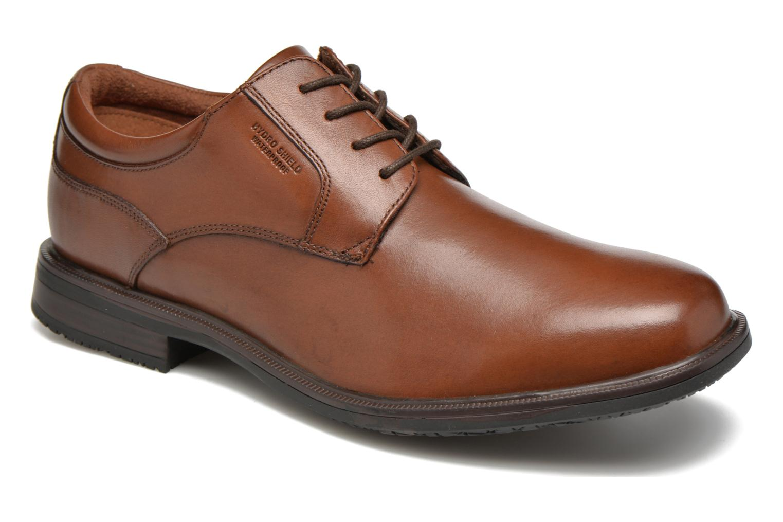 Zapatos con cordones Rockport Esntial Dtl II Plain Toe Marrón vista de detalle / par