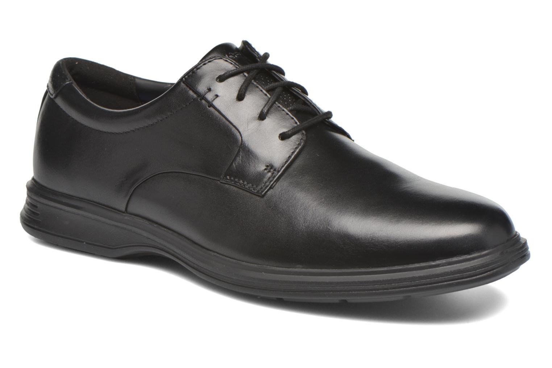 Lace-up shoes Rockport DP2 Light Plaintoe Ox Black detailed view/ Pair view
