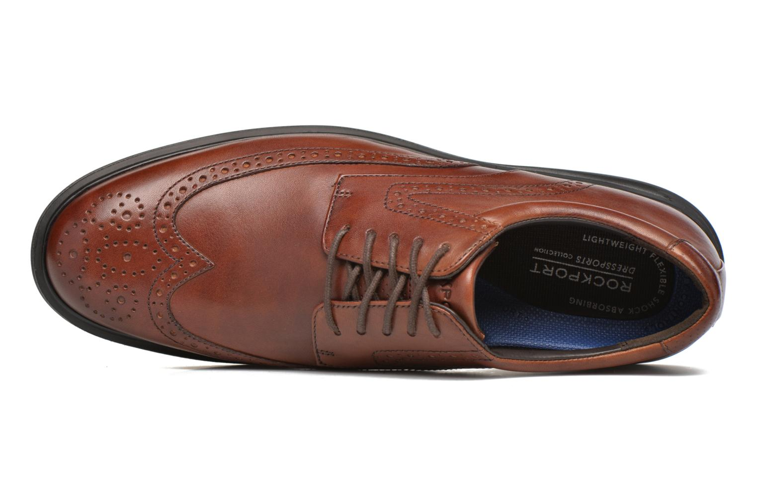 Lace-up shoes Rockport DP2 Light Wing Tip Brown view from the left