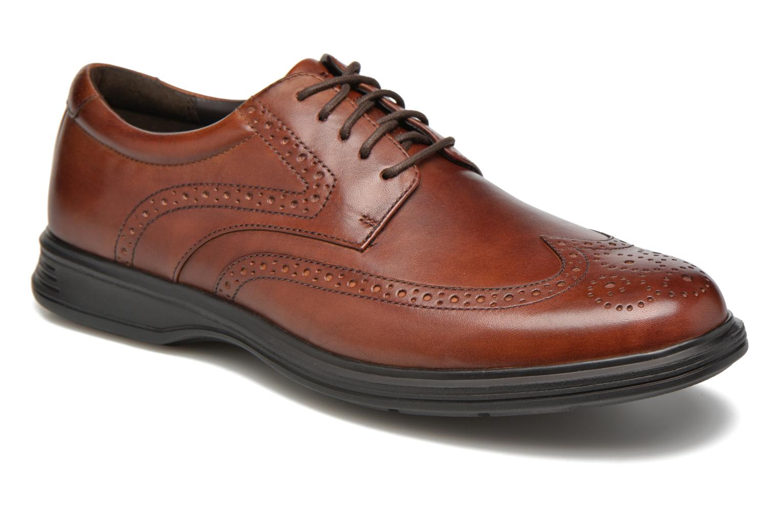 Lace-up shoes Rockport DP2 Light Wing Tip Brown detailed view/ Pair view