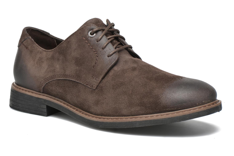 Chaussures à lacets Rockport Classic Break Plain Toe Marron vue détail/paire
