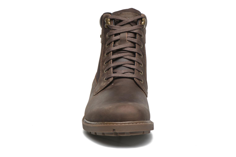 Bottines et boots Rockport Rgd Buc Wp High Boot Marron vue portées chaussures