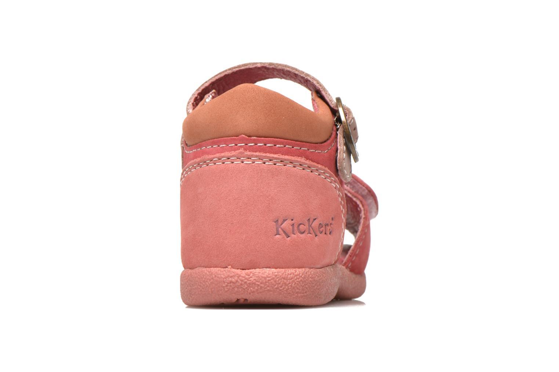 Sandales et nu-pieds Kickers Babygirl Rose vue droite