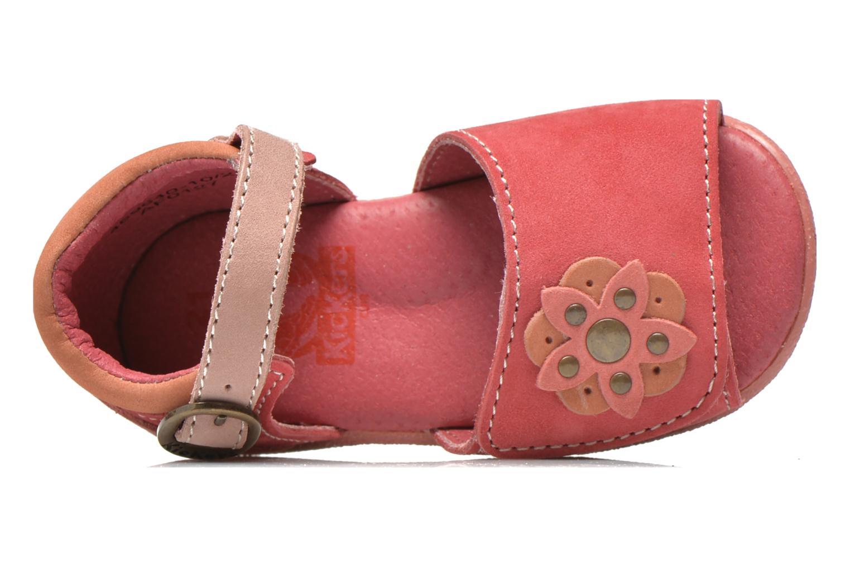 Sandales et nu-pieds Kickers Babygirl Rose vue gauche