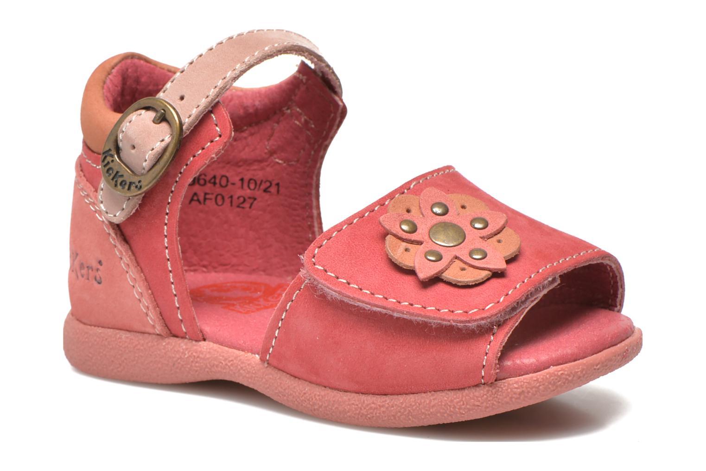 Sandalias Kickers Babygirl Rosa vista de detalle / par