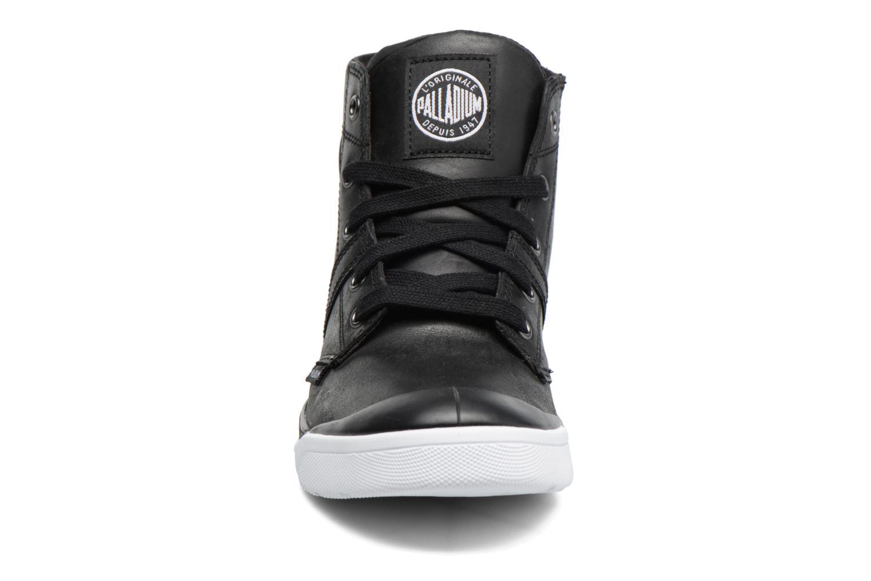 Bottines et boots Palladium Palaru HI Lea F Noir vue portées chaussures