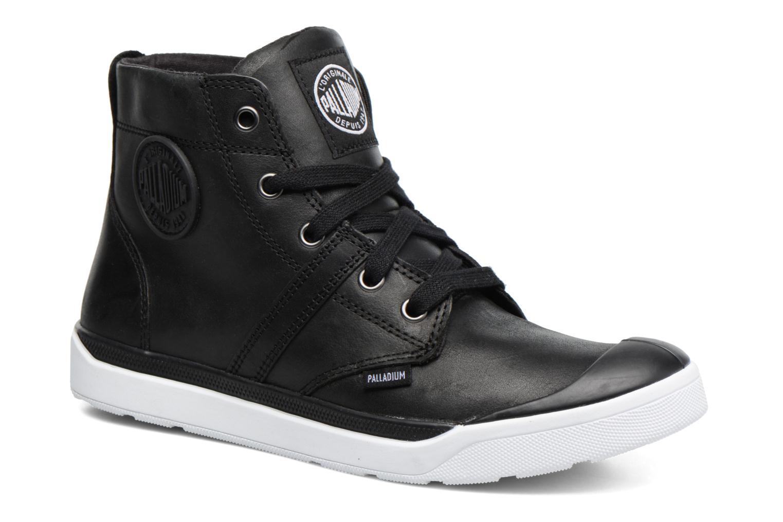 Ankle boots Palladium Palaru HI Lea F Black detailed view/ Pair view