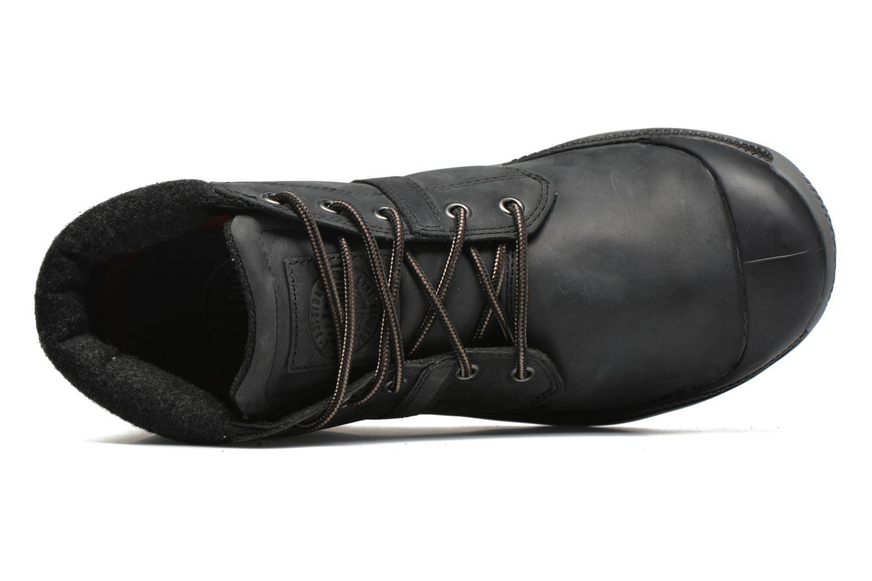 Chaussures à lacets Palladium Palavil Hi L H Noir vue gauche