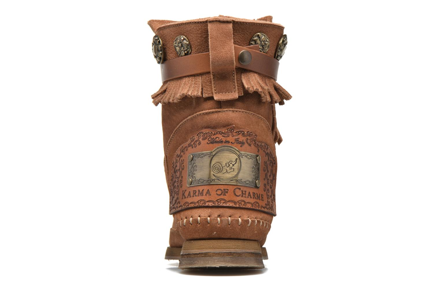Ankle boots Karma of Charme Way Belt Buf Brown view from the right