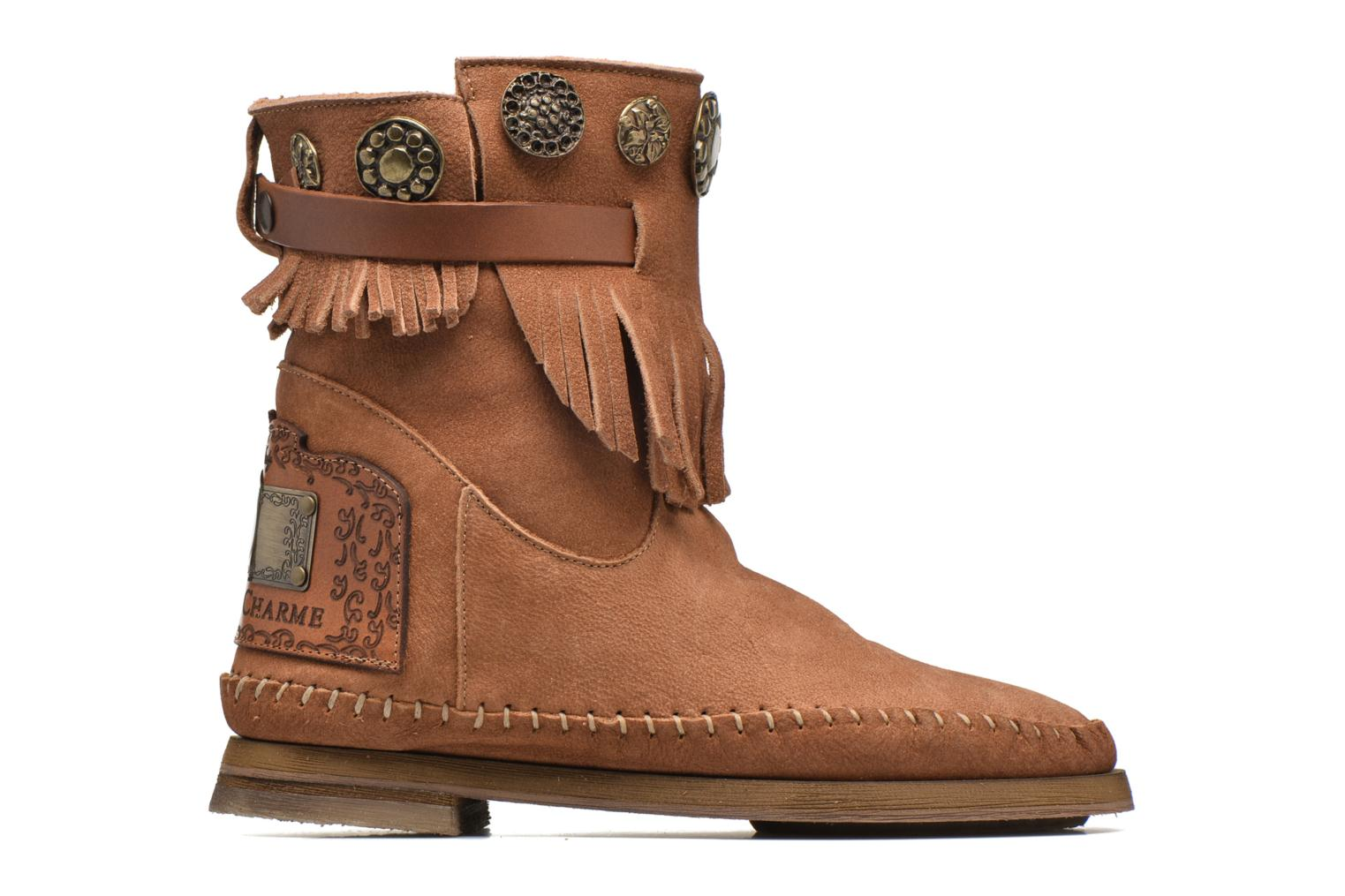Ankle boots Karma of Charme Way Belt Buf Brown back view