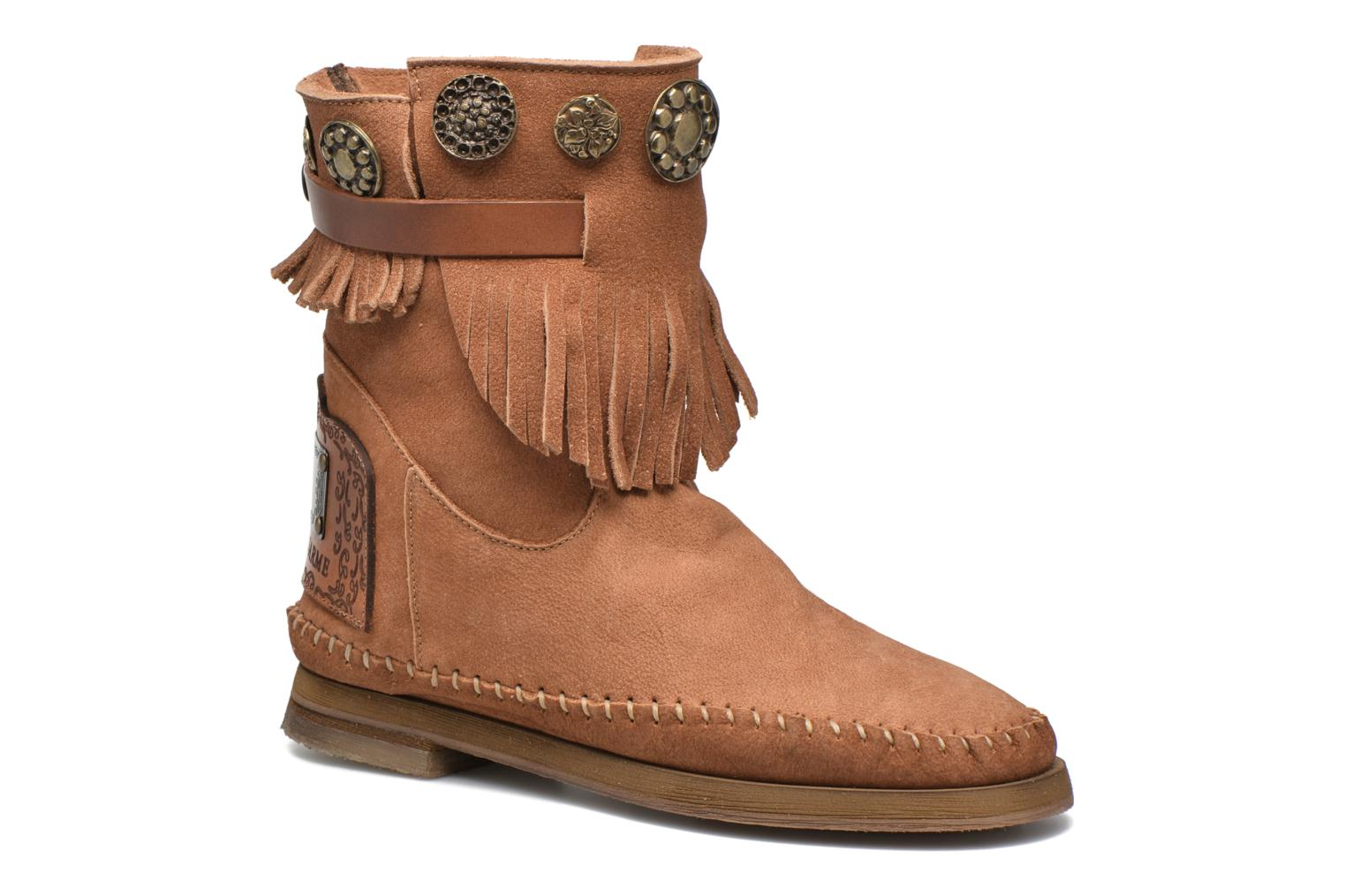 Ankle boots Karma of Charme Way Belt Buf Brown detailed view/ Pair view