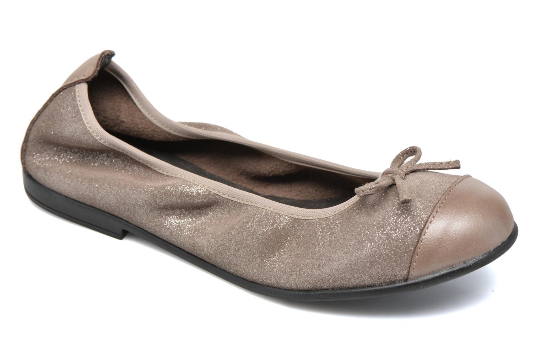 Ballerinaer Bopy Sarinza Beige detaljeret billede af skoene