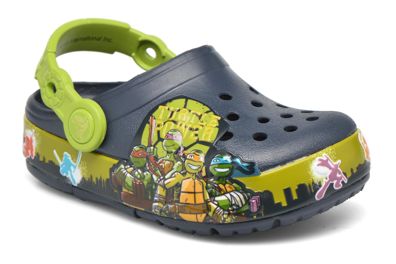 Sandales et nu-pieds Crocs Clights Bleu vue détail/paire