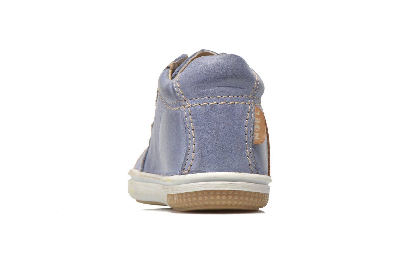 Baskets Noël Mini Marmo Bleu vue droite