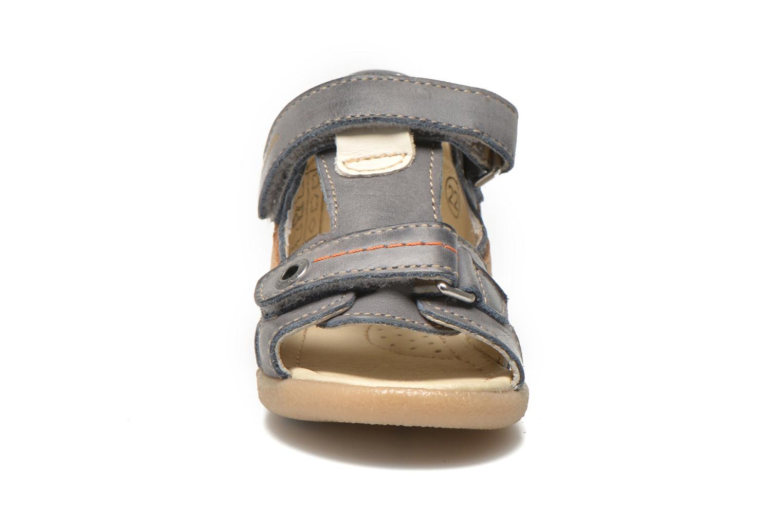 Sandales et nu-pieds Noël Mini Bird Bleu vue portées chaussures