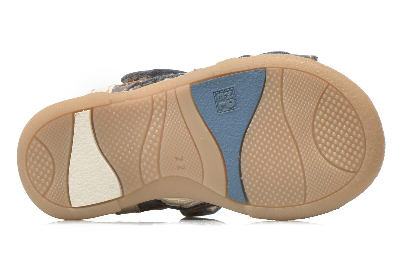 Sandales et nu-pieds Noël Mini Bird Bleu vue haut