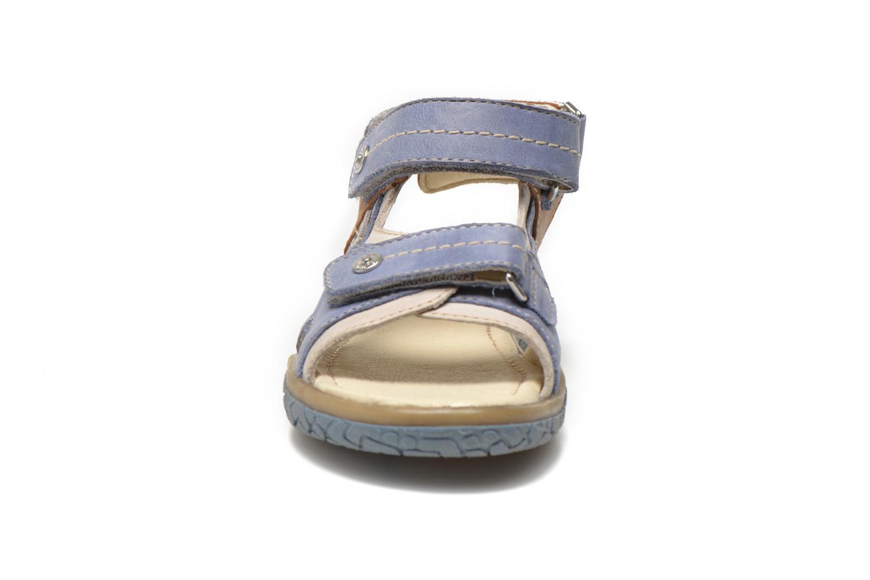 Sandales et nu-pieds Noël Tom Bleu vue portées chaussures
