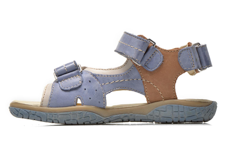 Sandales et nu-pieds Noël Tom Bleu vue face
