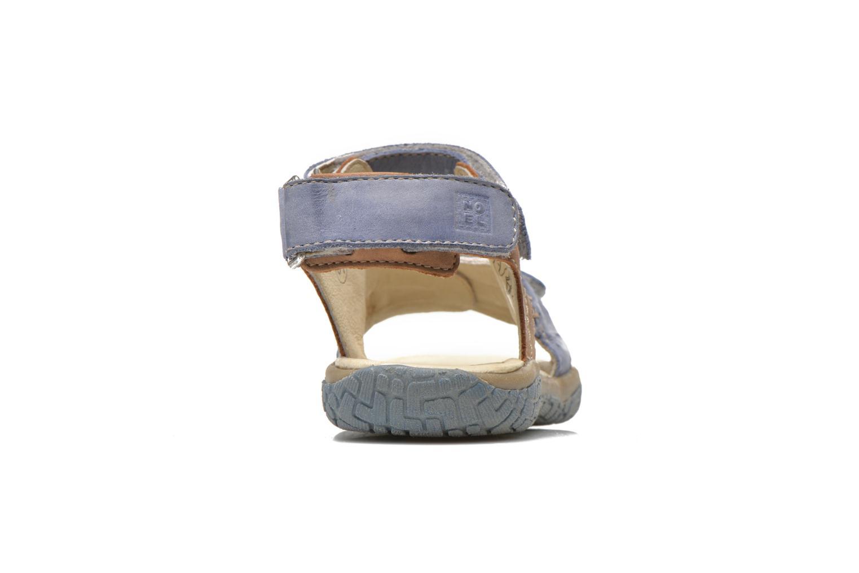 Sandales et nu-pieds Noël Tom Bleu vue droite