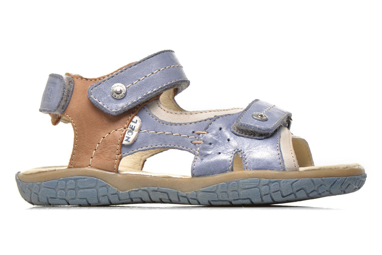 Sandales et nu-pieds Noël Tom Bleu vue derrière