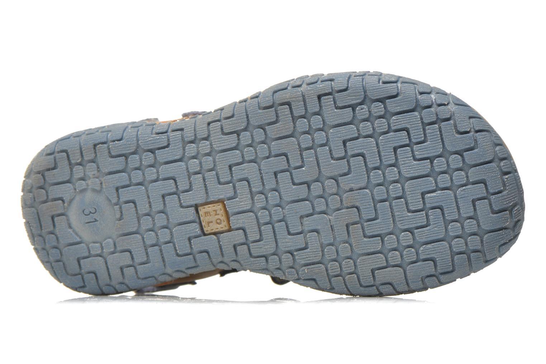 Sandales et nu-pieds Noël Tom Bleu vue haut