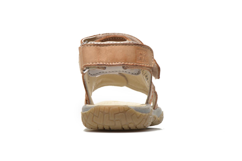 Sandales et nu-pieds Noël Tool Marron vue droite