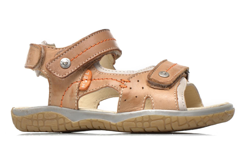 Sandales et nu-pieds Noël Tool Marron vue derrière