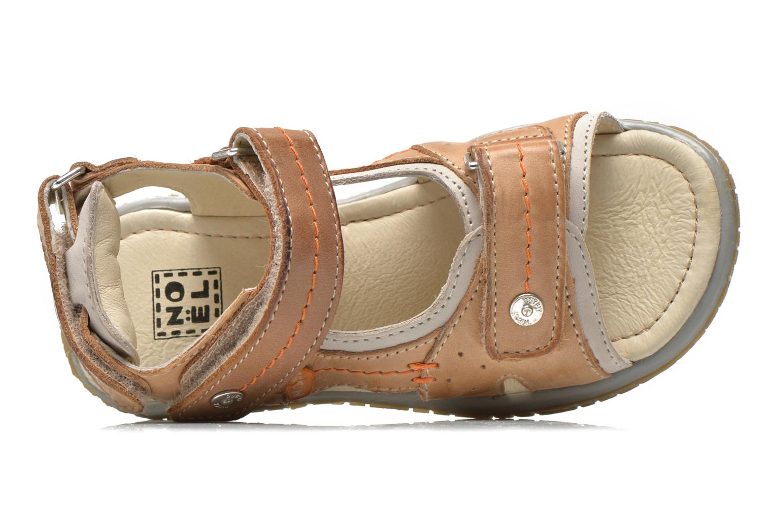 Sandals Noël Tool Brown view from the left