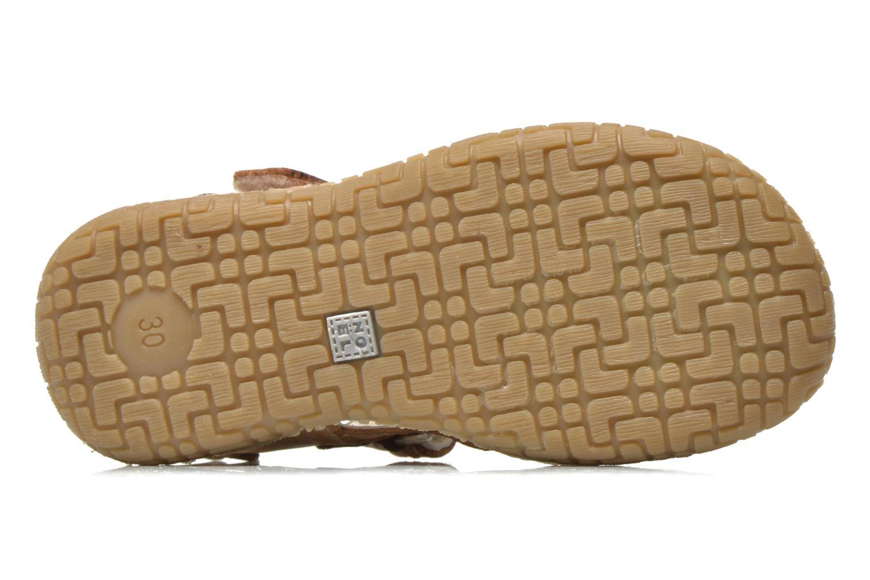 Sandales et nu-pieds Noël Tool Marron vue haut