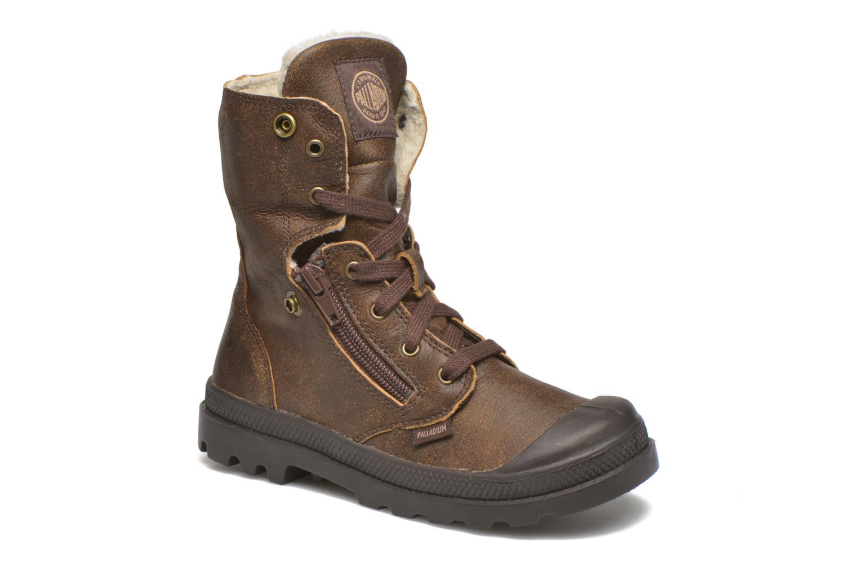 Bottines et boots Palladium BGY L ZIP FS K Marron vue 3/4