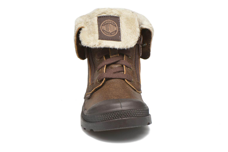 Bottines et boots Palladium BGY L ZIP FS K Marron vue portées chaussures