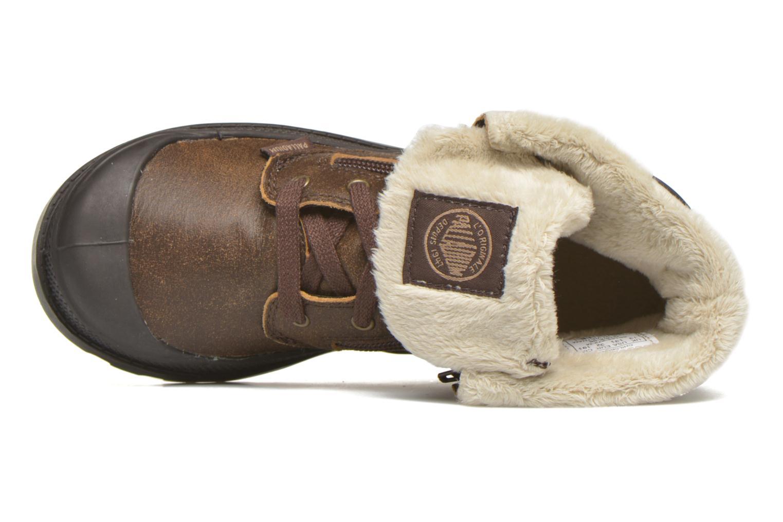 Bottines et boots Palladium BGY L ZIP FS K Marron vue gauche
