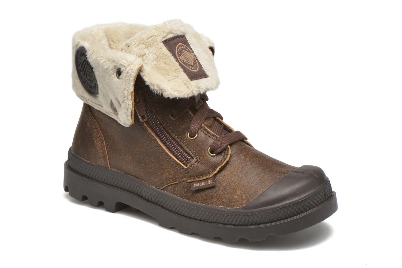 Bottines et boots Palladium BGY L ZIP FS K Marron vue détail/paire