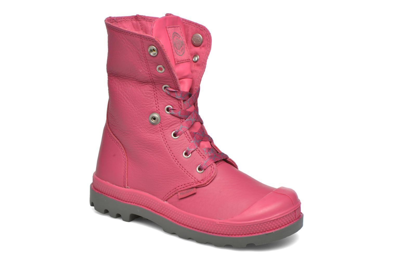 Bottines et boots Palladium BGY VL Z II K Rose vue 3/4