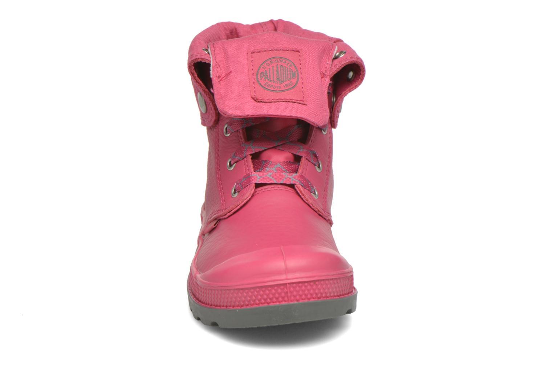 Bottines et boots Palladium BGY VL Z II K Rose vue portées chaussures