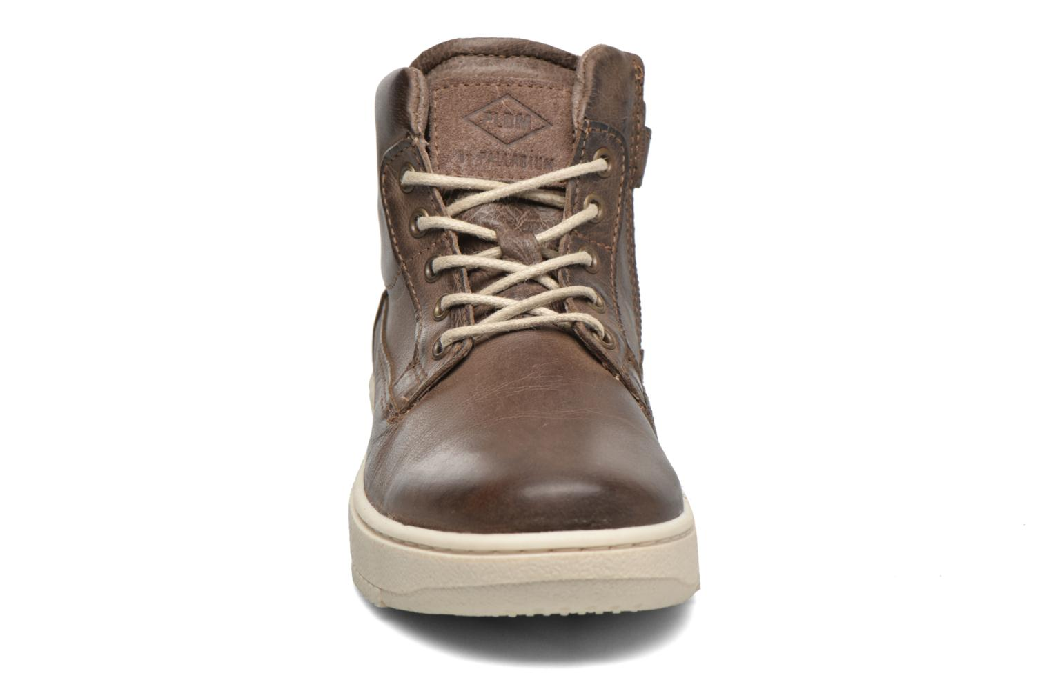 Sneakers P-L-D-M By Palladium Galax Marrone modello indossato