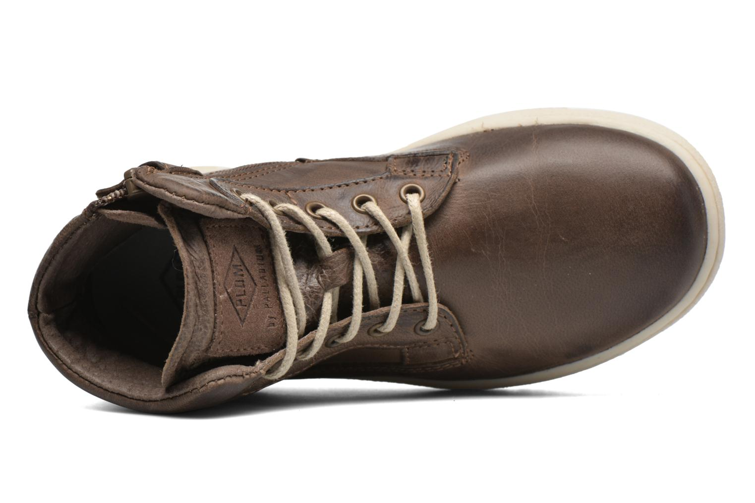 Trainers P-L-D-M By Palladium Galax Brown view from the left