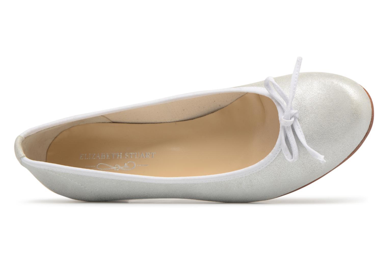 Bailarinas Elizabeth Stuart Josy 415 Blanco vista lateral izquierda
