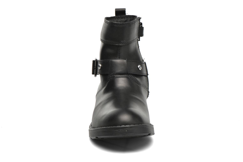 Bottines et boots Geox JR Sofia B ABX J54A2A Noir vue portées chaussures