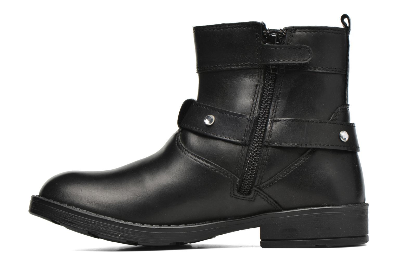 Bottines et boots Geox JR Sofia B ABX J54A2A Noir vue face