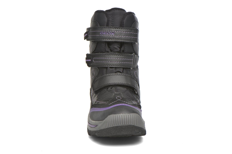 Bottines et boots Geox J Overland B Girl AB J540FC Noir vue portées chaussures